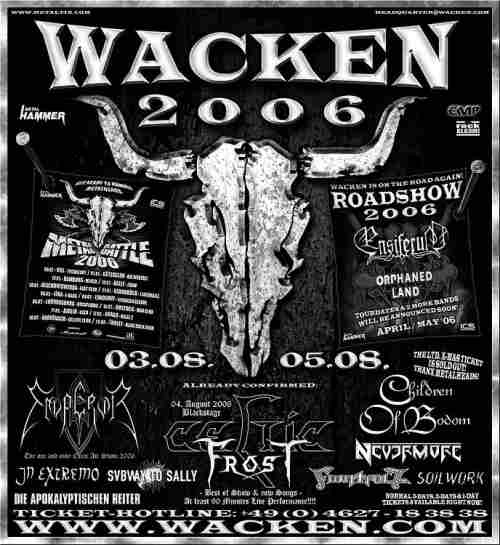 Wacken Open Air 2006 - 16/1/2006 updated poster