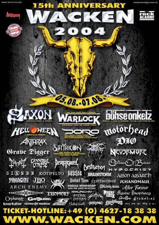Wacken Open Air 2004 - Artists Poster