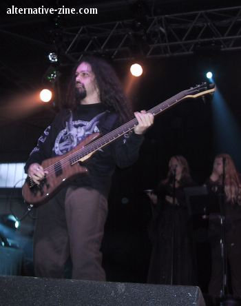 Johan Niemann from Therion(at M'era Luna 2002 festival)